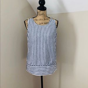 Ellen Tracy sleeveless linen shirt